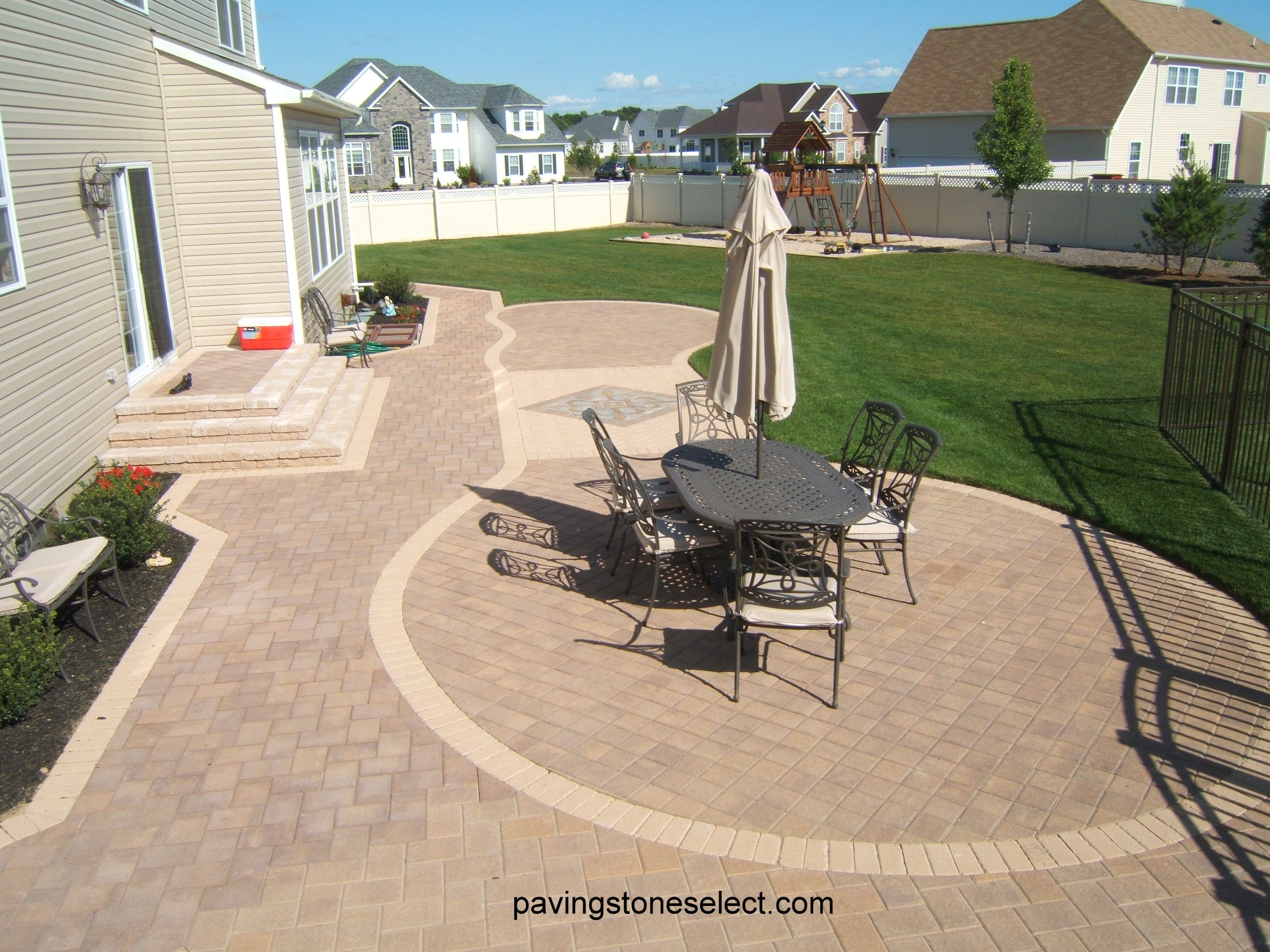Http://deckandpationaturalstones.com/?pu003d3477 Golden Brown Pavers Patio  Installed In East End Long Island Built With Nicolock Pavers On 1u201d Of Sand  Over ...