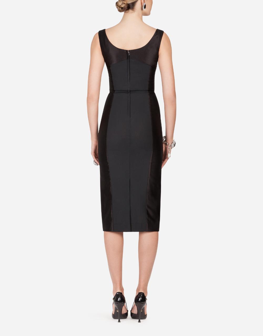 Women's Dresses | Dolce&Gabbana - DUCHESS SATIN MIDI DRESS