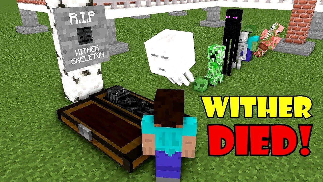 Monster School Rip Wither Skeleton Minecraft Animation Monster School Animation Monster