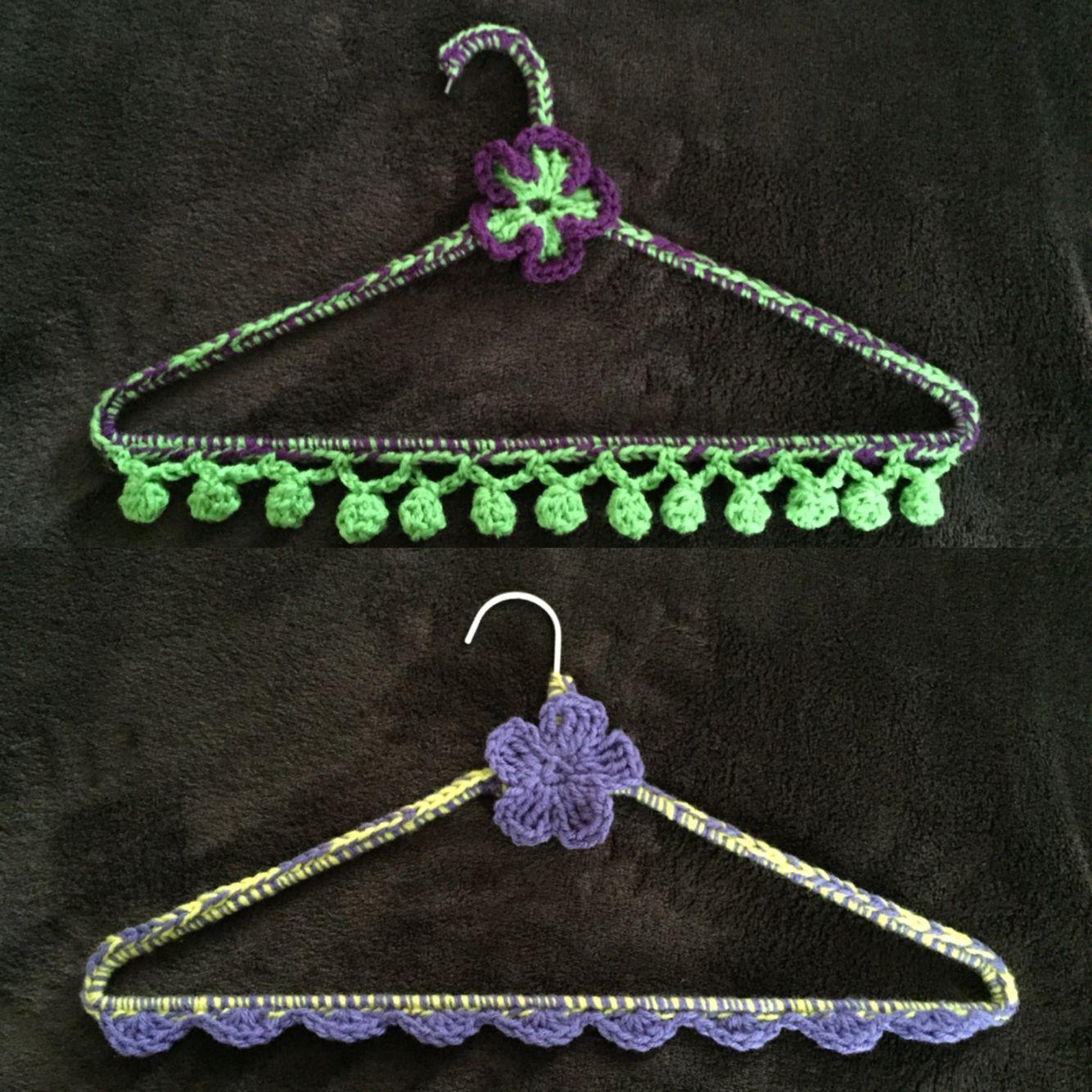 Crochet wire hangers! Non-slip, unbreakable, environmentally ...