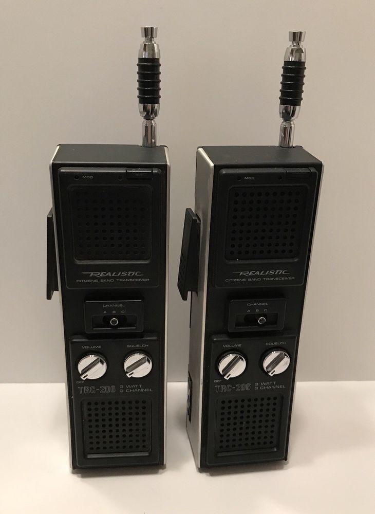1 Pair Vintage Realistic Trc 206 Walkie Talkies Stranger Things