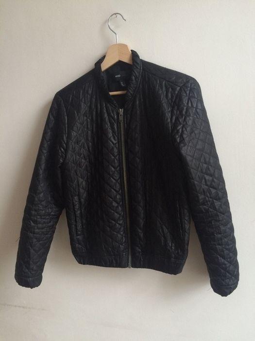 360e41fa MANGO prošívaná bunda / bomber - vinted.cz Mango, Zara, Leather Jacket,