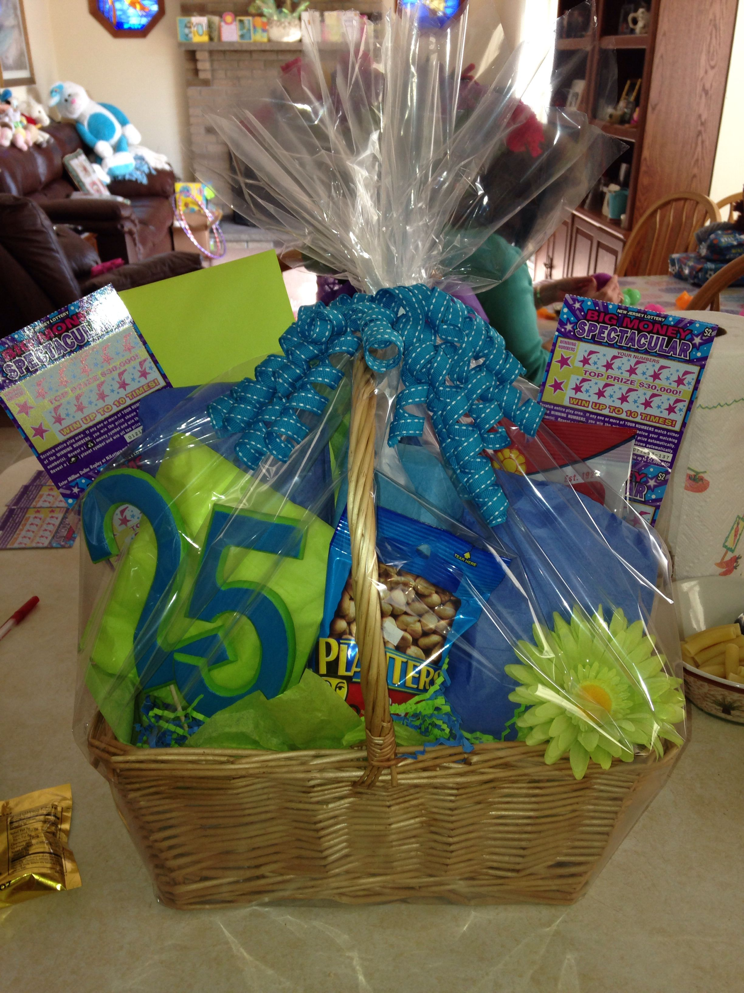 25th Birthday Basket Diy