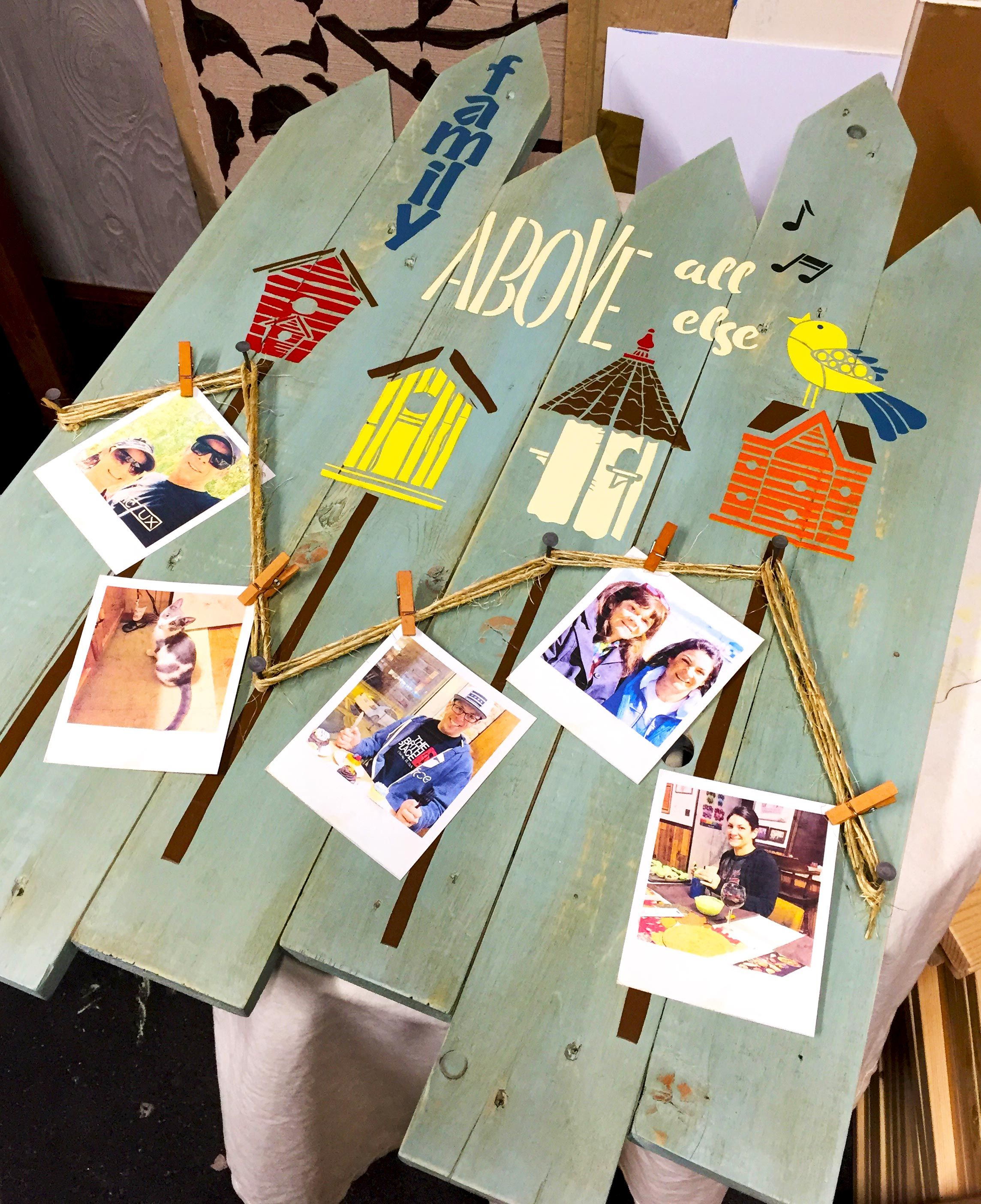 A Custom Picket Fence... Reclaimed Pallet Wall Art that is ...