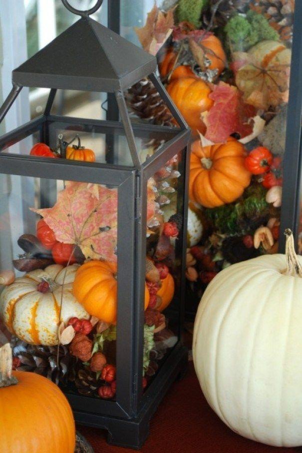 Wonen & seizoenen | Herfst decoratie met pompoenen en kalebassen • Stijlvol Styling woonblog • Voel je thuis!