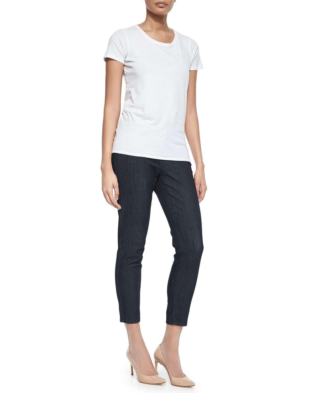Angie Super Skinny Ankle Jeans, Dark Denim