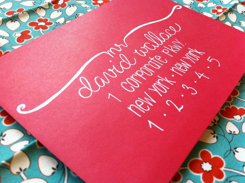 Custom Addressing | p a r t y | Pinterest | Envelope addressing ...