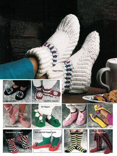 Simple Slippers In Crochet Easy Level 11 Quick And Easy Slippers