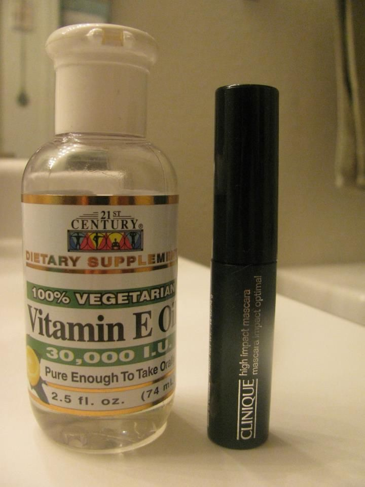 I Emptied An Old Mascara Tube And Filled It With Vitamin E Oil For