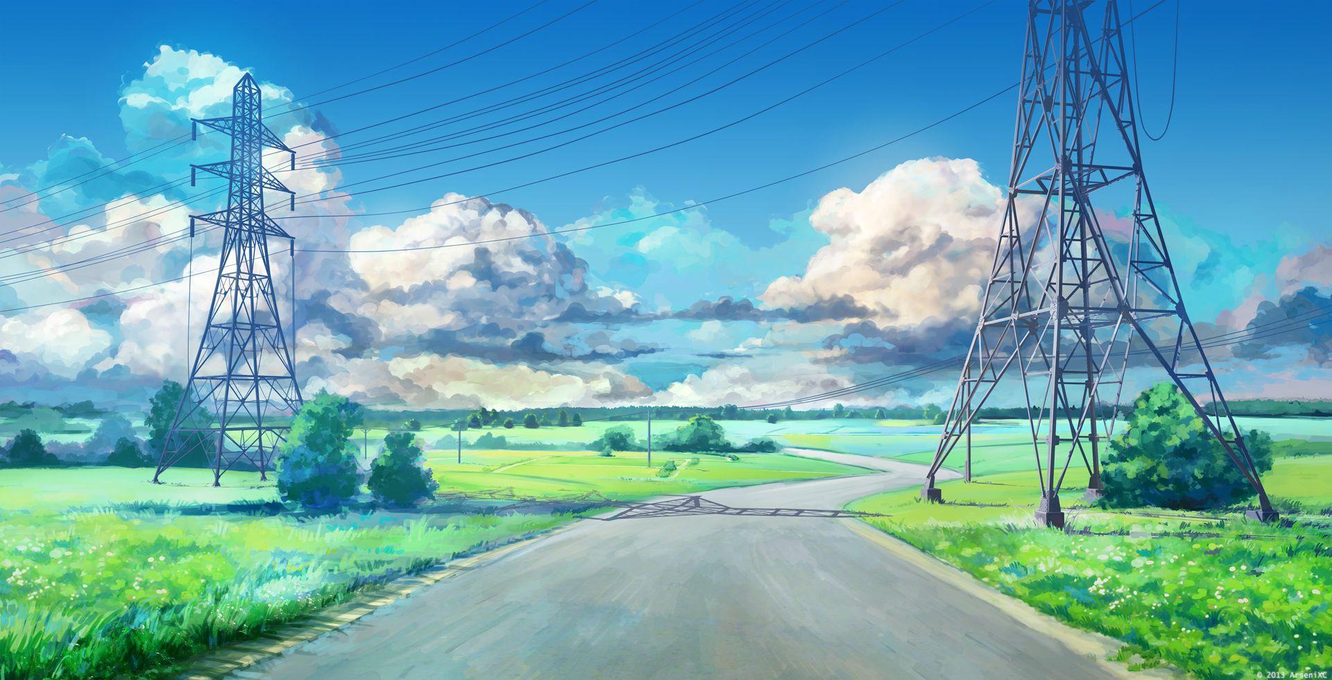 Road By Arsenixc Deviantart Com On Deviantart Anime Scenery