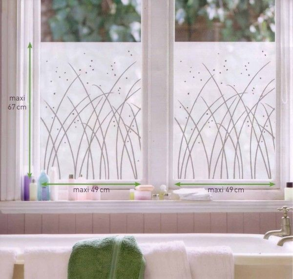 Milchglas Fensterfolie Fenstersticker Graser 2 Blatt 67 X 49 Cm Fensterfolie Fenstersticker Sichtschutzfolie Fenster