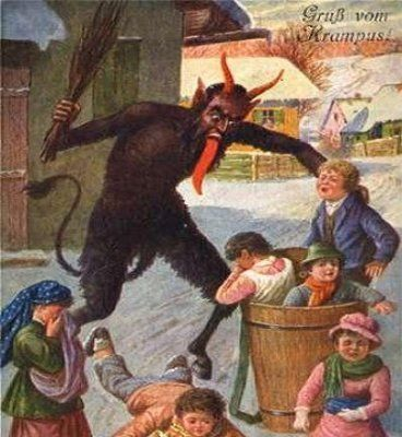 Double Portion Inheritance Santa Claus Or Satan Claws Krampus Creepy Christmas Scared Child