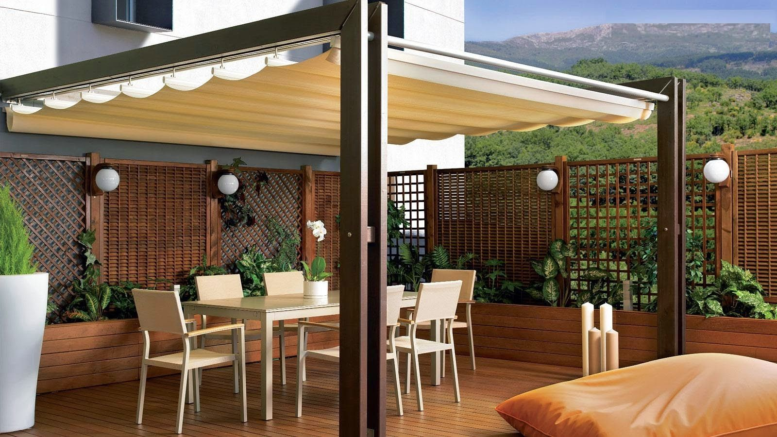 Consejos Para Decorar Jardines En Terrazas Y Balcones Tendencia - Pergolas-en-terrazas
