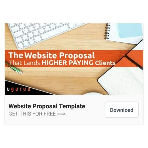Free Website Proposal Template (wwwugurus) Free Web Design - website proposal template