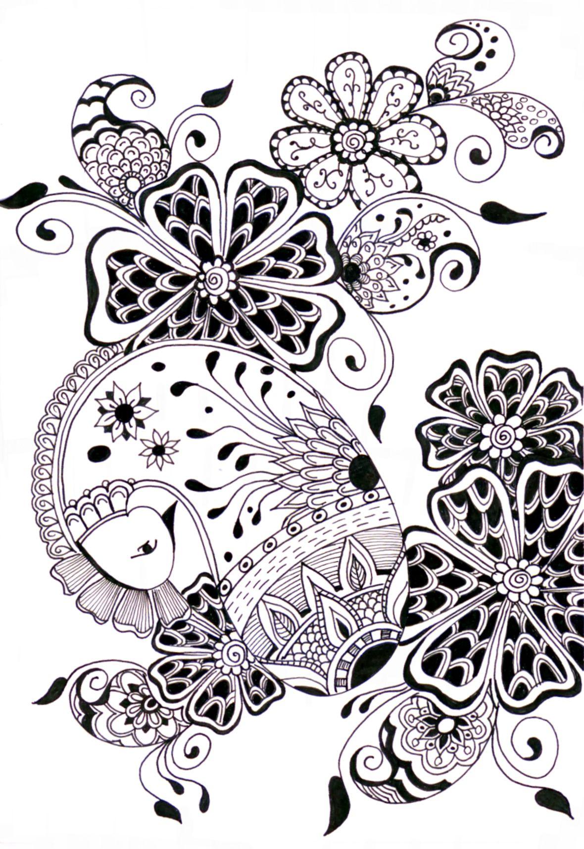 zentangle   Doodle   Pinterest   Mandalas, Dibujo y Colorear