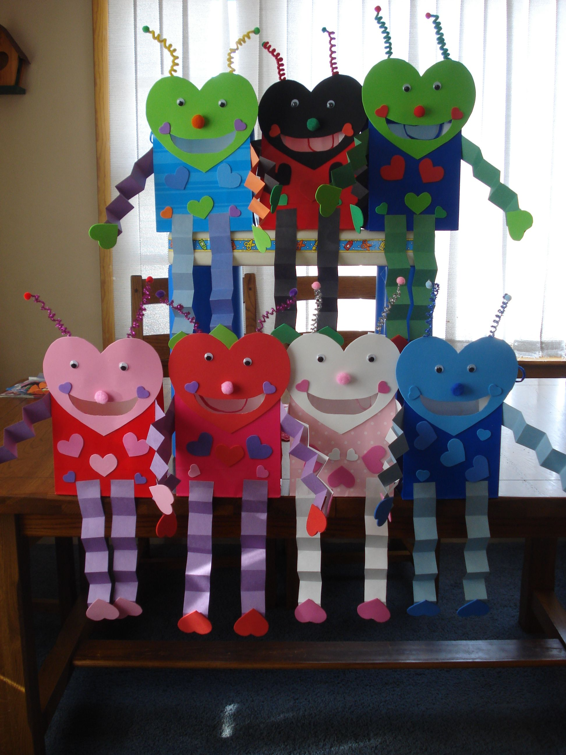 Valentine love bug craft - Love Bug Bags For Valentines These Are What My Kids Make Every Year Love