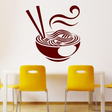 chinese food food cafe wall art decal wall stickers - food - kitchen