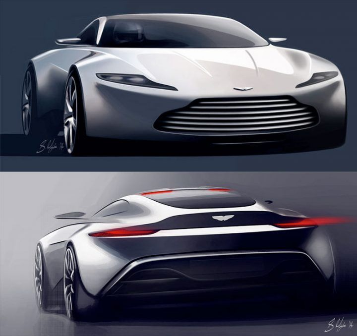 DB10 Design Sketch Render by Aston Martin designer Sam Holgate