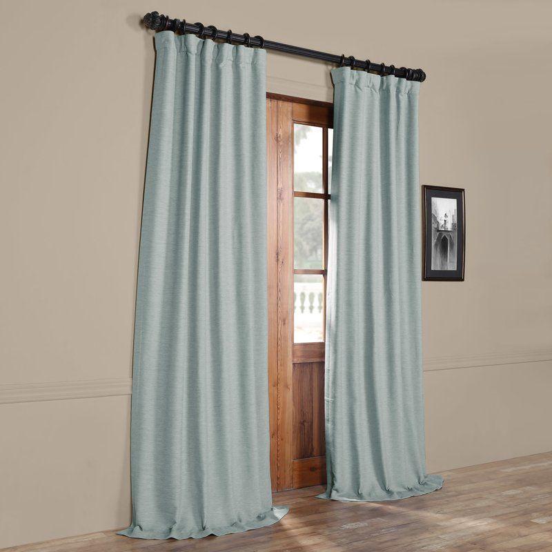 Freemansburg Room Darkening Rod Pocket Single Curtain Panel
