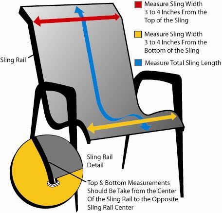 Only Use Picture To See How To Measure For The Chair Replacement.