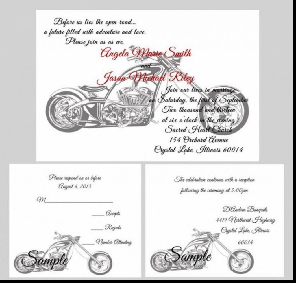 harley davidson wedding invitations   Jumping the Broom   Pinterest ...