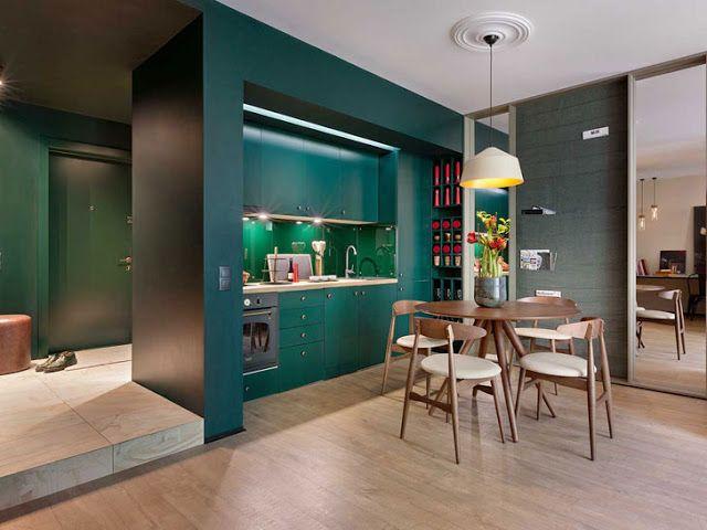 Kleine Wohnung in kräftigen Farben - Einrichtungs Ideen ...