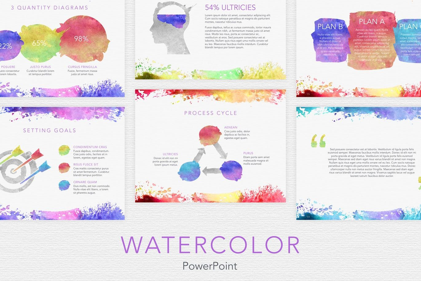 Watercolor Powerpoint Template from i.pinimg.com