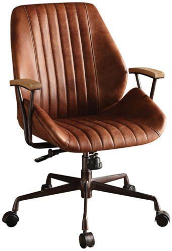 Hamilton Cocoa Office Chair Art Van Furniture Leather Office