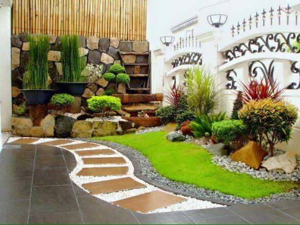 ideas para jardines pequeos con piedra
