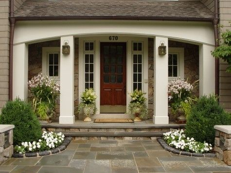 Love the Front Entry Urns | Front Door | Pinterest | Front ...