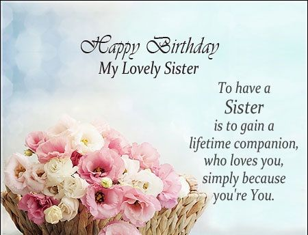 Birthday Wishes For Sister Sister Birthday Quotes Sister