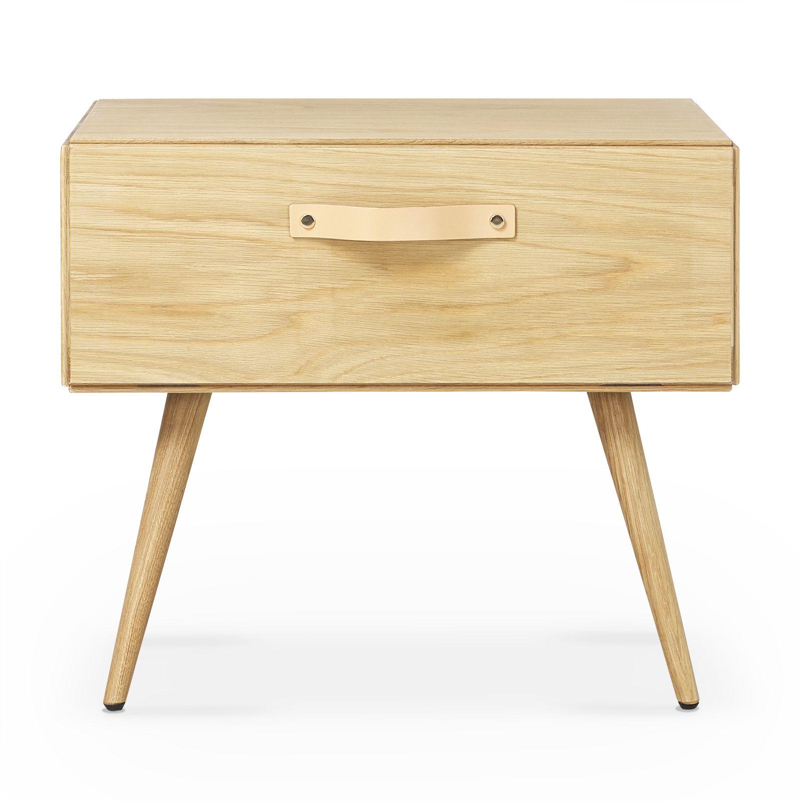 Odda Table De Chevet Scandinave En Chene Naturel Must Nightstand Wood Construction Oak