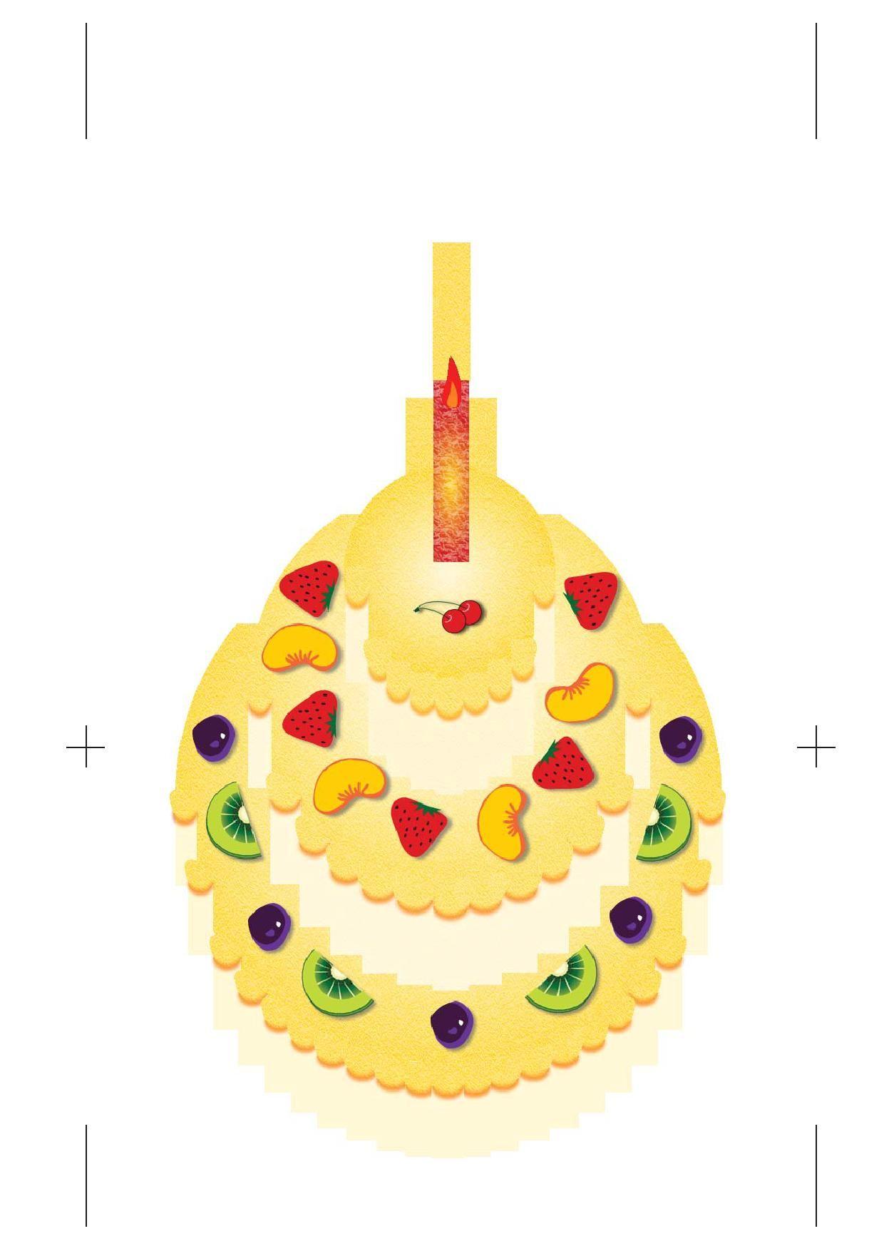 Kirigami Popup Birthday Card Kartu Ulang Tahun Ulang Tahun Seni Kertas