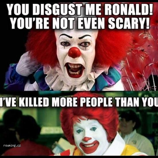 Made Me Laugh So Hard So True And Creepy ! #mcdonalds #clown #gmos