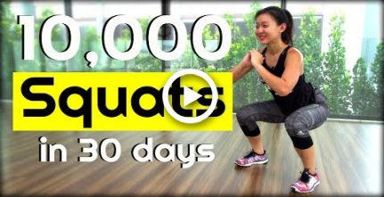 10,000 SQUAT Challenge in 30 Days | Joanna Soh #fitness