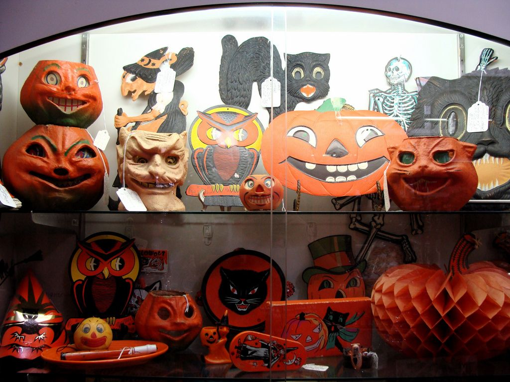 Antique Store, Halloween Display 3 Halloween antiques