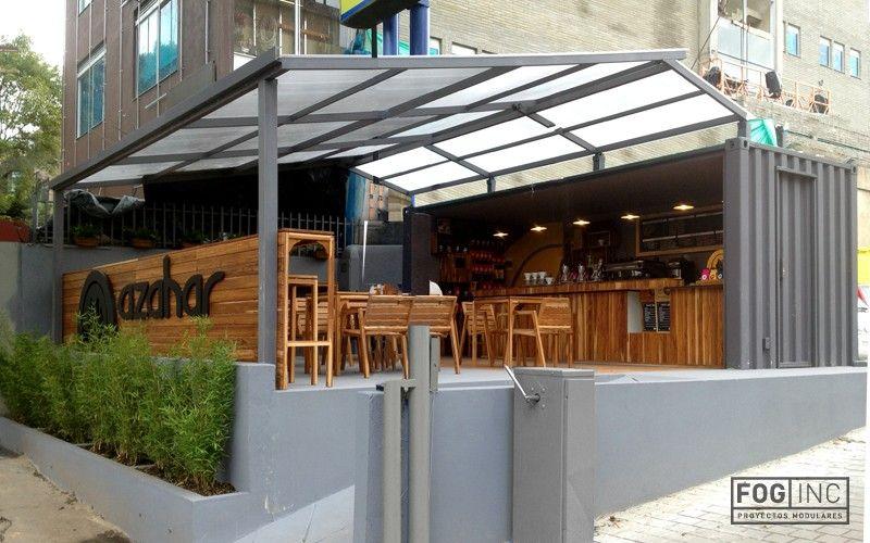 Container open side bar recherche google container bar for Kiosco bar prefabricado