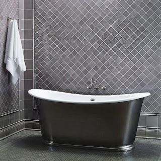 A Simple Pattern Adds Interest To This Gray Tile Wall 3x3