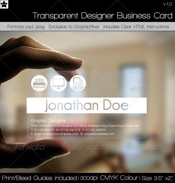 Transparent designer business card business cards corporate transparent business cards flashek Image collections