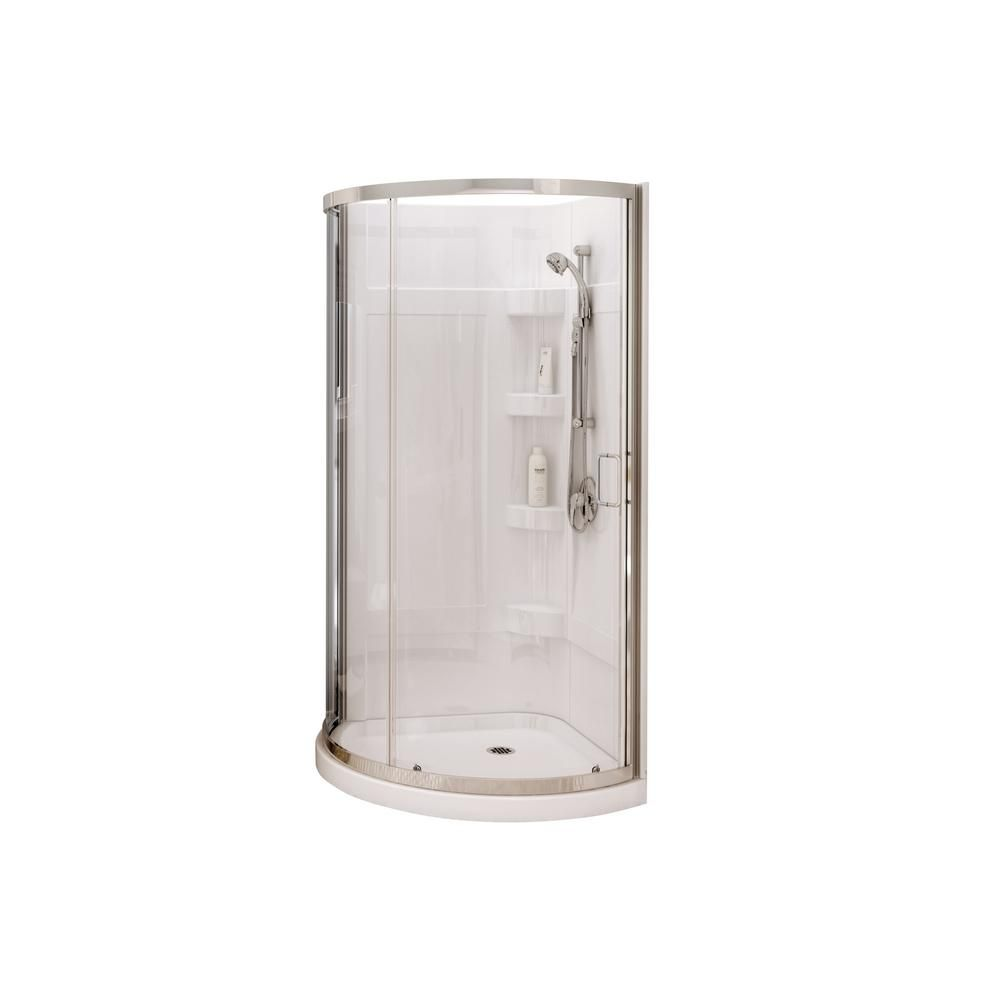 Maax cyrene in x in corner shower kit with semiframeless