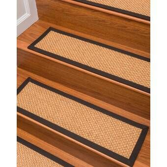 Bazemore Solid Color Non-Slip Rubber Backed Stair