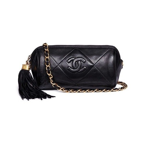 40d5ffc6fcd9 Vintage Chanel Mini quilted leather barrel bag (36800 MAD) ❤ liked on  Polyvore featuring