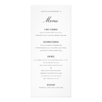 fully editable black and white formal dinner menu elegant dinner