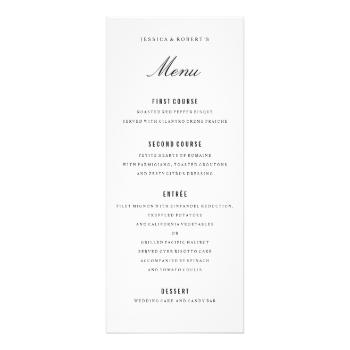 Fully editable black and white formal dinner menu. #elegant #dinner ...