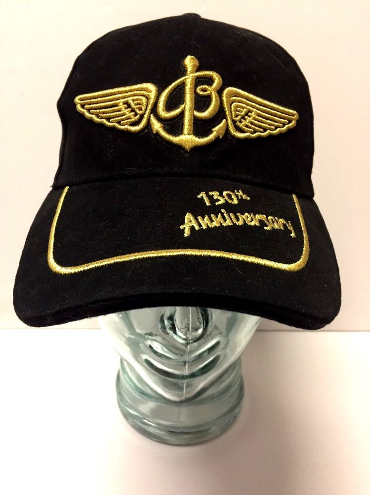 a6c54e2bf98 Breitling 130th Anniversary Black Gold Embroidered Baseball Cap Promo Hat  OSFA  Breitling  BaseballCap