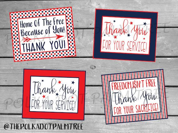photograph regarding Military Thank You Cards Free Printable identify Printable Veteran Army Patriotic Thank Your self Playing cards Notes