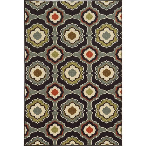 Arabella Black and Gray Rectangular: 5 Ft. x 8 Ft. Rug - (In No Image Available)
