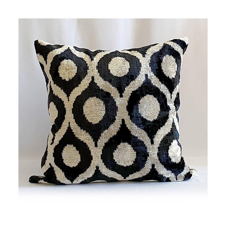 Dawn Dobbins The Onyx Silk Velvet Ikat Pillow Jpg In 2020 Ikat Pillows Etsy Pillow Covers Ikat Pillow Covers
