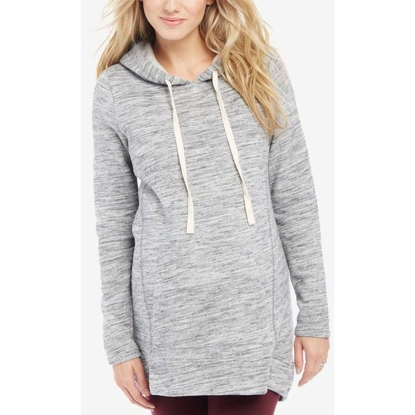 77b1a6cfe5 Motherhood Maternity Relaxed-Fit Hoodie (£12) ❤ liked on Polyvore featuring  tops, hoodies, grey, sweatshirt hoodies, relaxed fit tops, gray hoodie, ...