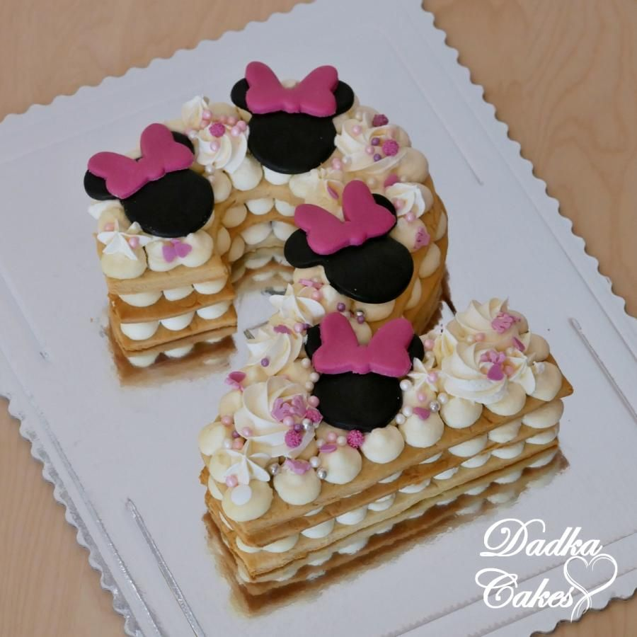 Minnie Mouse Number Cake By Dadka Cakes Minnie Mouse Cupcake